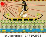 illustration of an egyptian... | Shutterstock .eps vector #147192935