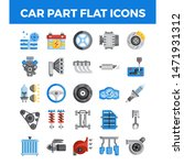 vehicle and car parts flat... | Shutterstock .eps vector #1471931312