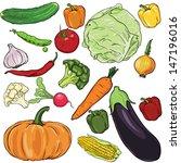 Vector Set Of Vegetables ...