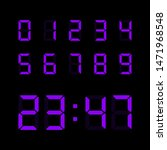 digital clock number set....