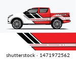 truck decal wrap design vector. ... | Shutterstock .eps vector #1471972562