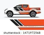 truck decal wrap design vector. ... | Shutterstock .eps vector #1471972568