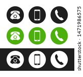 phone icon. flat vector phone... | Shutterstock .eps vector #1471986575