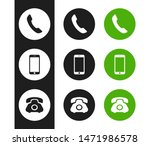 phone icon. flat phone icon for ... | Shutterstock .eps vector #1471986578