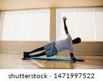 athletic african american man... | Shutterstock . vector #1471997522