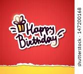 happy birthday  handwriting...   Shutterstock .eps vector #147200168