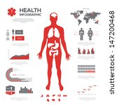 medical infographic set. vector ... | Shutterstock .eps vector #147200468