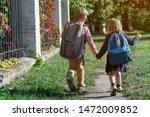 back to school. happy children...   Shutterstock . vector #1472009852