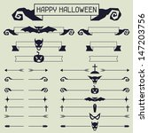 halloween collection of design... | Shutterstock .eps vector #147203756