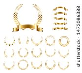 golden laurel wreaths and... | Shutterstock .eps vector #1472086388
