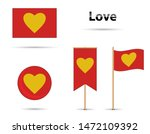 red and yellow love flag set | Shutterstock .eps vector #1472109392