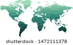 detailed globe map in ocean...   Shutterstock .eps vector #1472111378