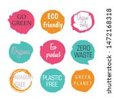vector labels with 100  natural ... | Shutterstock .eps vector #1472168318