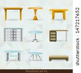 set of furniture icons can be... | Shutterstock .eps vector #147217652