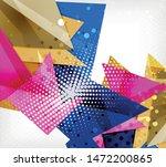 modern origami card. modern... | Shutterstock .eps vector #1472200865