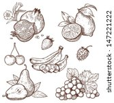 icons of sweet fruits and... | Shutterstock . vector #147221222