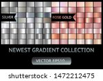 silver rose gold metal gradient ... | Shutterstock .eps vector #1472212475