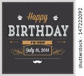 birthday card | Shutterstock . vector #147222092