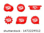 50 off collection tags. banner... | Shutterstock .eps vector #1472229512