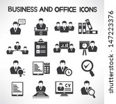 business management and human... | Shutterstock .eps vector #147223376
