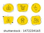 human  support and couple signs.... | Shutterstock .eps vector #1472234165