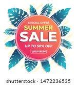 summer sale banner modern... | Shutterstock .eps vector #1472236535