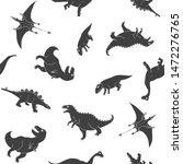 dino seamless pattern  cute... | Shutterstock .eps vector #1472276765