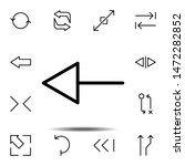 arrow icon. simple thin line ...