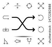 arrow shuffle icon. simple thin ...