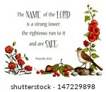 Bible Verse  Strong Tower  Wit...