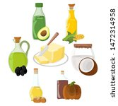 set of oil  fat  butter icon.... | Shutterstock .eps vector #1472314958