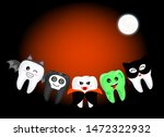 funny cute cartoon tooth... | Shutterstock .eps vector #1472322932