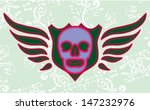 skull and wings vector art