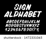 hand drawn typeface on black... | Shutterstock .eps vector #1472331065