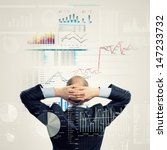 back view image of businessman...   Shutterstock . vector #147233732