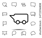 bubble  chat  bus icon. simple...