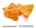 Taco Chips Isolated On White...