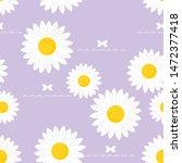daisy seamless pattern  white... | Shutterstock .eps vector #1472377418