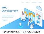 web development isometric...