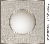 vintage vector frame with round ... | Shutterstock .eps vector #1472408612