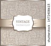 vintage beige ornamental...