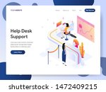 landing page template of help... | Shutterstock .eps vector #1472409215
