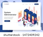landing page template of system ... | Shutterstock .eps vector #1472409242