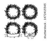 christmas wreath set in the... | Shutterstock .eps vector #1472415545