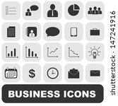 business icons vector set | Shutterstock .eps vector #147241916