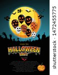 happy halloween festive... | Shutterstock .eps vector #1472455775