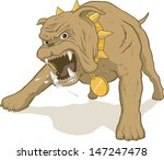 growling guard dog secures your ... | Shutterstock .eps vector #147247478