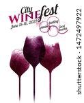 illustration of three wine... | Shutterstock .eps vector #1472497922