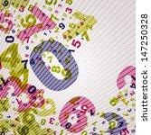 numbers backgound | Shutterstock .eps vector #147250328