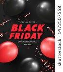 black friday sale background... | Shutterstock .eps vector #1472507558